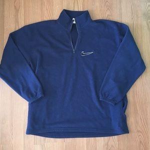 Vintage NIKE Navy Blue Half Zip Fleece MADE IN USA